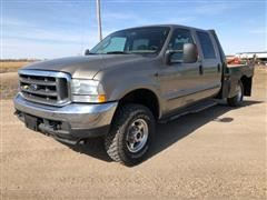 2004 Ford F350 XLT Super Duty 4 Door Crew Cab 4x4 Pickup Truck