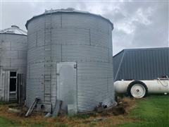 BS-B 3300 Bushel Grain Bin With Withdraw Auger And Drying Floor