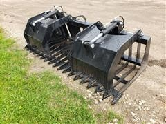 "Brute 75"" Rock/Brush Grapple Skid Steer Attachment"