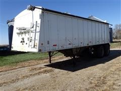 1996 HKEG 827P-22296-30 27' T/A Hopper Bottom Grain Trailer