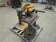 """DEWALT D28715 14"""" Chop Saw, Vise On Stand, & Adjustable Metal Stand"""
