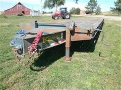 2008 Kaufman T/A Bumper Hitch Flatbed Trailer