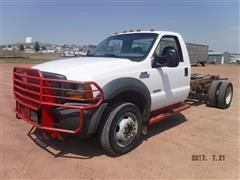 2005 Ford F550 4x4 Cab & Chassis