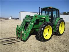 John Deere 6420 MFWD Tractor W/640 Front Loader