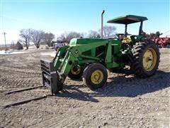 """1978 John Deere 2840 2WD Tractor W/148 Loader/7' Bucket/Stout 48"""" Heavy Duty Pallet Fork"""