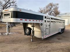 2014 Elite Tri/A Aluminum Livestock Trailer