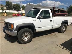 1997 GMC Sierra K3500 4X4 Pickup W/Snow Plow