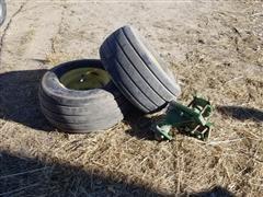 John Deere 569 Baler Hubs W/Mounts & Tires W/Wheels