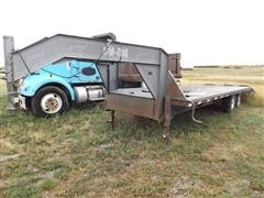 2001 Load Trail Gooseneck Flatbed Trailer