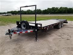 2017 Load Trail 24' Dovetail T/A Flatbed Trailer