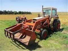 Case 1070 2WD Tractor w/ Dual Loader/Bucket/Grapple