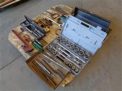 """Craftsman Combination Wrenches, Sockets & Jepson 1/2"""" Impact Wrench"""