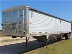 1990 Timpte Super Hopper 42' Hopper Bottom T/A Grain Trailer