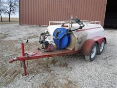 2003 Palmer Pull Type T/A 600-Gal Fuel Trailer