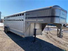 2002 Kiefer Deluxe II T/A Aluminum Livestock Trailer
