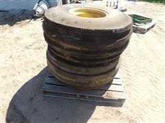 Firestone 16.5L-16 Front Tractor Tires & John Deere Rims