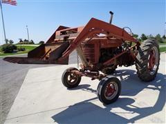 1950 International Harvester Farmall M 2WD Tractor W/Horn Loader