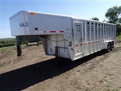 2003 Wilson 5724T 7'X24' T/A Aluminum Gooseneck Livestock Trailer