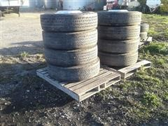 Michelin X Line Energen D 275/80/22.5 Tires & Rims