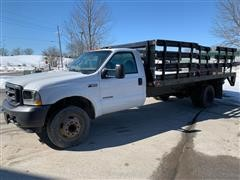 2003 Ford F550 Super Duty Flatbed W/ Powered Liftgate
