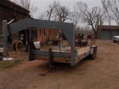 1994 Interstate 16BST/S T/A Flatbed Trailer