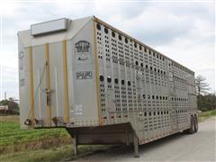 2000 Merritt Gold Line Double-Decker T/A Aluminum Livestock Trailer
