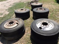 11R24.5 Tires w/2 Hole Rims