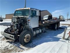 1996 International 8000 T/A Flatbed Truck For Parts