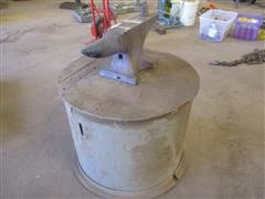 Approx 50 Lb Anvil And Shop Built Base