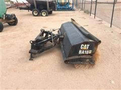 Caterpillar BA18 Skid Steer Sweeper Attachment