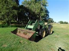 1983 John Deere 2950 MFWD Tractor W/Loader