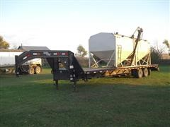 2009 Load Max T/A Flatbed Trailer W/Seed Tender