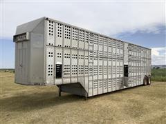 1981 Merritt 80-1147-002 T/A Livestock Trailer