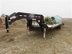 2012 P J FD322 T/A Equipment Trailer With Equipment