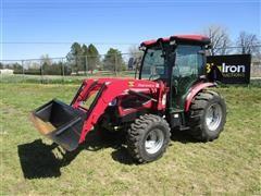 2017 Mahindra 3550HCIFLSK MFWA Compact Utility Tractor W/Loader & Bucket