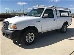 2008 Ford Ranger 4x2 Pickup W/Unicover Camper Shell