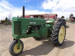 1956 John Deere 70 2wd Tractor With Single Front Wheel