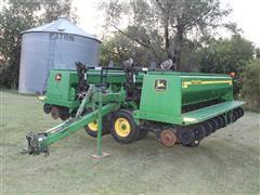 John Deere 455 2-Section 40 X 7.5 Grain Drill W/Dry Fertilizer