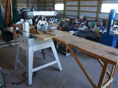 "Craftsman Laser Track 10"" Radial Arm Saw W/Workbench"