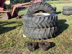 Case IH 7130 Dual Hubs And 10 Bolt Rims W/18.4-38 Tires