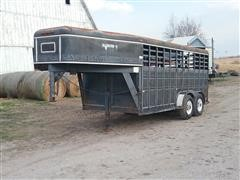 1991 Diamond D T/A Livestock Trailer