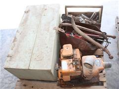 Berkeley Pump & Carpenters Box W/ Contents