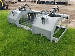 "2020 Hawz 74"" Wide Root Grapple Skid Steer Attachment"