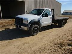 2006 Ford F450 XL Super Duty 2WD Flatbed Dually Pickup