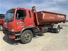 2007 Mitsubishi Tilt/Cab Hook Lift Truck & Scrap Container