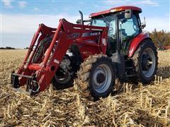 2005 Case IH MXU135 MFWD Tractor W/Loader