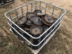 John Deere Cast Iron Press Wheels