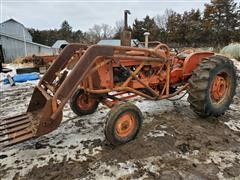 1959 Allis-Chalmers D17 2WD Tractor W/Loader, Chains, Canopy & Snow Blade