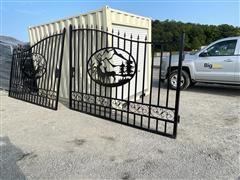Greatbear 20' Bi-Parting Wrought Iron Gate