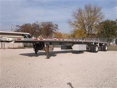 2001 Benson AF 489650 Spread Axle Flat Bed Trailer